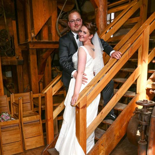 Erfurter Hochzeitspaar im den Räumen des Mühlenhof Bosse